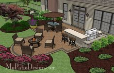 Simple Patio for Entertaining | Outdoor Fireplaces & Fire Pits