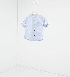 Imagem 1 de Camisa dobrável nas mangas da Zara