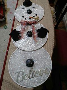 Dollar Tree Christmas, Dollar Tree Crafts, Christmas Wood, Christmas Projects, Christmas Stuff, Christmas Ideas, Snowman Crafts, Holiday Crafts, Christmas Decorations