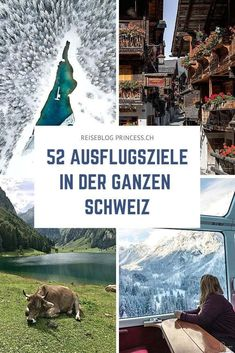 52 spannende Ausflugsziele aus der ganzen Schweiz: vom Graubünden, über das Wallis, Bernern Oberland bis hin in die Zentralschweiz und die Ostschweiz. Hiking Routes, Reisen In Europa, Clear Lake, Holiday Accommodation, Travel Guides, Trekking, Switzerland, Countryside, Travel Inspiration