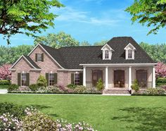 3 Beds Plus Bonus - 11761HZ | 1st Floor Master Suite, Acadian, Bonus Room, CAD Available, Corner Lot, European, French Country, Metric, PDF, Photo Gallery, Southern, Split Bedrooms | Architectural Designs