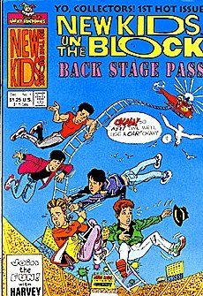New Kids On The Block Backstage Pass (1990 series) #1 by Harvey Comics