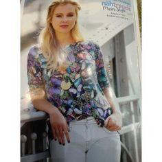 Piepel digital, digital bedrukte viscose jersey met kleurrijke vlinders.  bij www.online-stoffen.eu