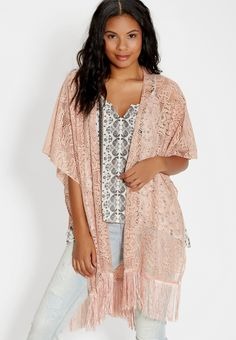 lace ruana with fringe (original price, $24.00) available at #Maurices