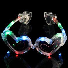 Heart Shaped Led Glasses & Flashing Glasses | GF Brand