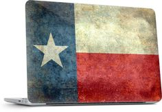 Vintage Texas Flag from the american flag series by Bruce Stanfield - Laptop - $30.00 #Texas #USA #state #flag #vintage #retro #laptop #skins #apple #PC #macbook