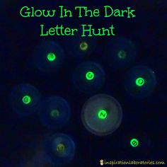 Glow in the Dark Letter Hunt - a fun way to practice letters and letter sounds