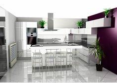 Fehér konyha magasfényű