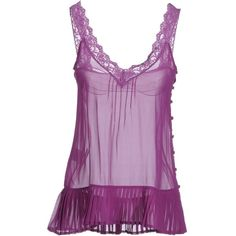 Designer Clothes, Shoes & Bags for Women Purple Lingerie, Sexy Lingerie, Sleep, Tank Tops, My Style, Nice, Makeup, Polyvore, How To Wear