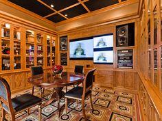 Celine Dion's entertainment room.