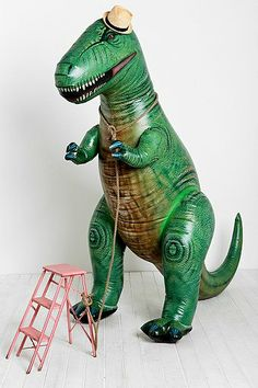 Because everybody needs an Oversized Inflatable T-Rex