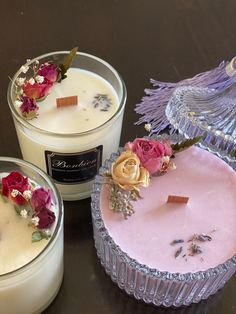 Merry go round crystal soy candle// dry flower soy candle Diy Candles Scented, Homemade Candles, Soy Wax Candles, Voluspa Candles, Yankee Candles, Natural Candles, Cute Candles, Beautiful Candles, Candle Packaging