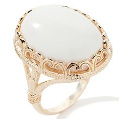 Technibond® Cabochon Gemstone Filigree Ring