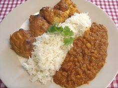 Jenny Eatwell's Rhubarb & Ginger: Curry baked chicken with Slow cooker split pea dhal