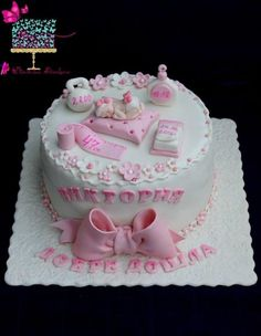 Baby girl cake by Ditsan Baby Doll Cake, Baby Girl Cakes, Cake Baby, Birthday Cake For Papa, Baby Birthday Cakes, Baby Shower Cake Decorations, Baby Shower Desserts, Girl Shower Cake, Baby Shower Cakes