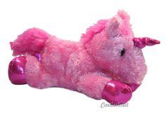 "Aurora Fantasy PINK UNICORN 8"" Flopsie Plush Floppy Stuffed Animal NEW #Aurora"