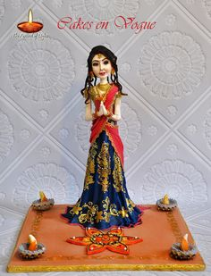 Festival Of Lights Collaboration - Lady Lakshmi Cake. - Cake by Cakes en Vogue