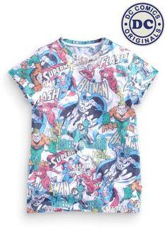 Buy White Superhero Top from the Next UK online shop Latest Fashion For Women, Kids Fashion, Boys Wear, Boys T Shirts, Men Casual, Superhero, Uk Online, Mens Tops, How To Wear