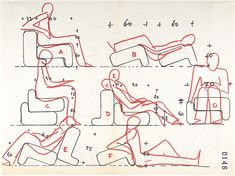 Joe Colombo | Multi-Chair (position studies: recto, seven; verso, three) | The Met