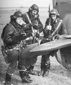 Sgt Sydney G Stuckey (centre) enjoys a brief break with fellow pilots of No 73 Squadron RAF in France where he served between September 1939 and 12 May 1940. Early in the campaign, the squadron controlled the Cherbourg Peninsula, before they moved to Rouvres in October 1939.