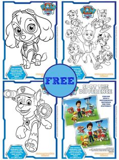 Free Paw Patrol colouring sheets and activity sheets for little hands to colour in,