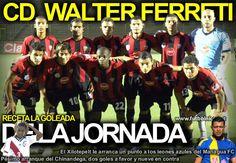 Walter Ferreti en una de sus goleadas...