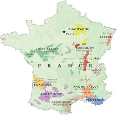 Oh la la!! one more wine map of France.