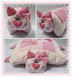 Amazing Home Sewing Crafts Ideas. Incredible Home Sewing Crafts Ideas. Sewing Toys, Baby Sewing, Sewing Crafts, Sewing Projects, Cat Crafts, Diy And Crafts, Sewing Pillows, Baby Pillows, Stuffed Toys Patterns