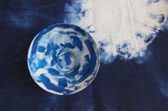 Blue Linen Placemats Set of 4 Indigo Blue by ayatextilecraftworks
