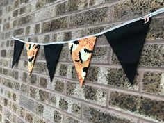 This is my fave one! Just added to the shop. Halloween Crafts, Halloween Decorations, Bats, Bunting, Creepy, Flag, Orange, Shop, Handmade