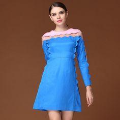 New Type Back Zipper Organza Long Sleeve Dresses