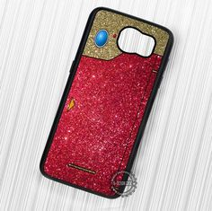 Anime Game Dex Red Gold Glitter Pokemon - Samsung Galaxy S7 S6 S5 Note 7 Cases & Covers