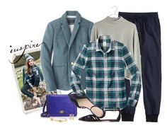 """""""Campbell blue"""" by villasba ❤ liked on Polyvore featuring J.Crew and Madewell"""