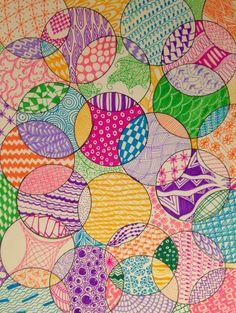 Zentangle pattern! Zentangle Drawings, Zentangles, Art Drawings For Kids, Art For Kids, Drawing Projects, Art Projects, Atelier D Art, Jr Art, 3rd Grade Art