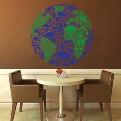 Animal Globe Wall Decal - Small | GeekeryMade - Housewares on ArtFire