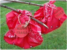happy-trails-bandanas: goodie bags for camp party