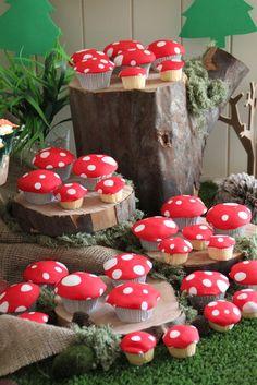 Mushroom Cupcakes #mushroom #cupcakes