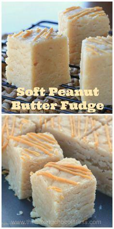 Soft & Creamy Peanut Butter Fudge