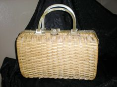 Vintage Straw and Lucite Purse by PopsCandy on Etsy, $35.00