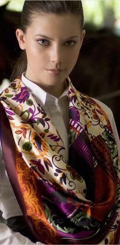 Aker Eşarp / Scarf - 2007/08 F/W #aker #scarf #esarp #hijab #fashion #silk #scarves #moda #hijab #tesettur #model #mode #style #pattern #babushka #kerchief #shawl #wrapper #trend #aker #akeresarp #akerscarf
