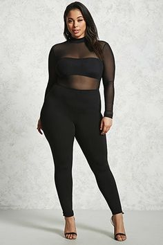 f253a6a455812 Forever 21+ - A knit skirt featuring an elasticized waist and a partially  caged cutout