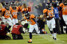 Denver Broncos wide receiver Trindon Holliday (11) runs onto the field with the rest of the team.  The Denver Broncos vs th...  #ProFootballDenverBroncos