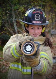 High School Senior with aspirations of becoming a firefighter. Unique Senior portraits female portraits