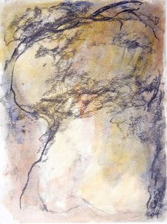 WILLIAM TUCKER, untitled drawing/watercolor, watercolor and charcoal, 19 x 9 in, $3,000