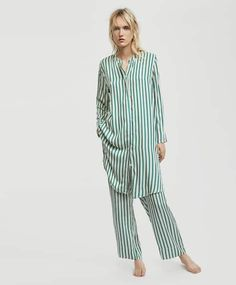 700f891345 Long sleeve nightdress with stripes - New In - Pyjamas and homewear