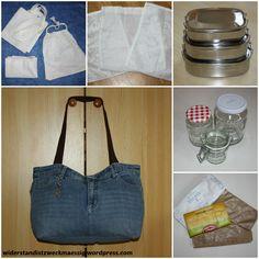 widerstandistzweckmaessig: Basisausrüstung für den verpackungsfreien Einkauf [Müll reduzieren beim Einkauf Teil 8.] Reduce Waste, Zero Waste, Clean Up, Aktiv, Recycling, Survival, Sewing, Ideas, Organization