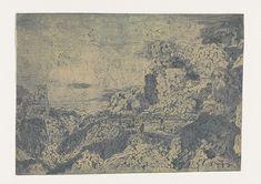 Rotslandschap met een plateau, Hercules Segers, ca. 1615 - ca. 1630