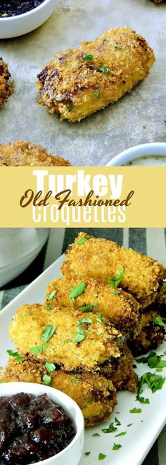 Low Unwanted Fat Cooking For Weightloss Old Fashioned Turkey Croquettes - These Aren't Your Grandma's Croquettes With Tons Of Fresh Veggies And Herbs, This Dish Delivers That Old Fashioned Favorite On A Whole Other Level From Turkey Croquettes, Chicken Croquettes, Croquettes Recipe, Roast Chicken Recipes, Healthy Chicken Recipes, Cooking Recipes, Chicken Meals, Leftover Turkey Recipes, Leftovers Recipes