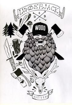 Lumberjack by Davide Barco, via Behance