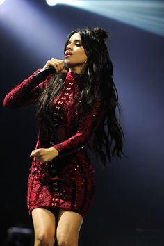 Camila Cabello performs on stage during the Y100\'s iHeartRadio Jingle Ball 2016 at BBT Center on December 18 2016 in Sunrise Florida